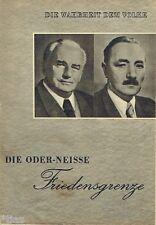 La verdad al pueblo nº 6 propaganda DDR 1950 o Neisse paz frontera