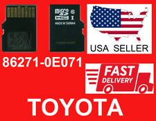 TOYOTA Navigation Micro SD Card Map Data LATEST UPDATE OEM 86271-0E071 2020
