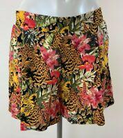 New Ladies EX George tiger Print Shorts Size 8 20 22