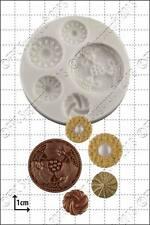 Silicona Molde Vintage Botones | uso alimentario FPC Sugarcraft Envío Reino Unido!