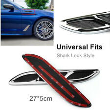 2Pcs Hood Vent Scoop Kit Cold Air Intake Flow Fitment Louvers Cooling Hood Vent