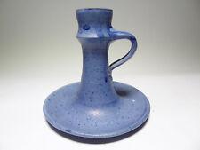 Kerzenhalter Keramik Töpferei Damolleuchter Tellerleuchter Handleuchter blau
