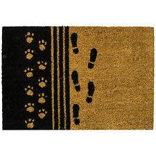 Gran impresión del pie antideslizante que se Felpudo Pvc Natural Fibra De Coco Entrada estera piso