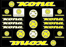 KONA Bicycle Bike Frame Decals Sticker Adhesive Graphic Vinyl Aufkleber Yellow