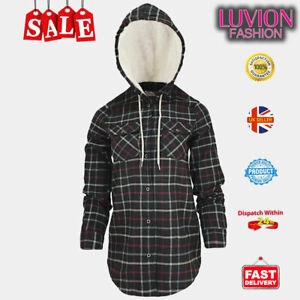High Quality women's Plaid Shirt Jacket with Sherpa-Lined Hood Flannel