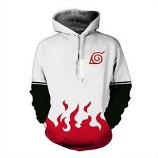 Naruto0 Hokage Ninjia Hoodie Cosplay Costume Anime Jacket Pullover Sweatshirt