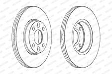 Genuine FERODO Front Axle Brake Disc Set (2x Discs) DDF1201C