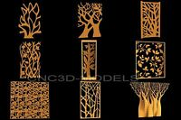 3D Model STL for CNC Router Engraver Carving Artcam Aspire Tree Forest 6081