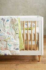 Anthropologie Katie Vernon Nature Map Toddler Quilt Kids Blanket Wilderness Nwt