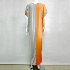 Maxi Dress Plus Size Women Solid Short Sleeve Oversize Baggy Long Dress