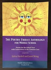 """New Listing""""The Poetry Friday Anthology For Middle School"""" Book Sylvia Vardell & Janet Wong"""
