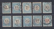 Niederlande Portomarken Mi.-Nr. 3-12 Satz komplett gestempelt.