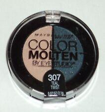 Maybelline Eye Studio Color Molten Eyeshadow Duo TEAL TWIST 307 Sealed