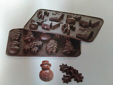 New Silicone Cake Topper, Chocolate Christmas Advent Shapes Mould 16
