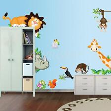 Wall Sticker Adesivo Parete Animali Zoo Tigre Scimmia Decoro Murali Cameratte