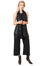 Women's Pia Rossini stunning sequin Isabelle Scarf Black
