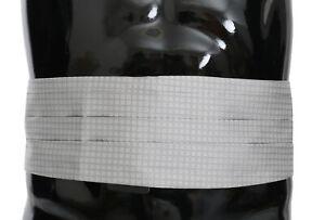 DOLCE & GABBANA Cummerbund Gray Patterned Waist Belt Silk s. IT52 / XL