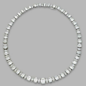Cocktail Party Solid 925 Sterling Silver Emerald Marquise Wedding Necklace Nw