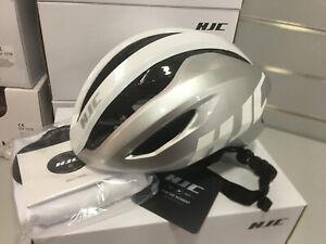 HJC Valeco Aerodynamic Road Helmet 55-59cm Size M (Silver-white)