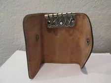 Vintage Leather Key Case Brown Top Grain Cowhide Holds 6 Keys