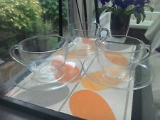French Arcoroc glass coffee/tea cups and saucers