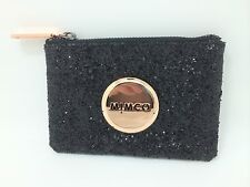BNWT MIMCO SPARKS POUCH WALLET BLACK ROSE GOLD LEATHER