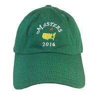 Masters 2016 Green Embroidered Golf Hat Strapback Baseball Hat Adjustable Back