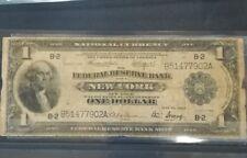 C.R 013 Billete  Estados Unidos one dollar new York año 1914 circulado