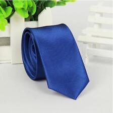 Skinny Solid TIE Thin Narrow Slim Formal Wedding Party Men's Neck Tie