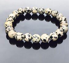 DalmatianJasper Natural Gemstone Bracelet  Chakra Healing Immunity Booster Reiki