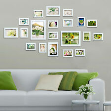 Multi Picture Photo Frame Collage 20 Pieces White Wood Frames Set Home Decor