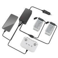Car Charger Battery Remote Control USB Charging Dock For DJI Mavic Air 2 Black