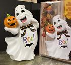 "25"" Rare Happy Ghost Greeter Statue BOO Pumpkin Bat Halloween Figurine Prop New"