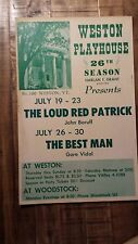 1962 - Weston Playhouse Poster / THE LOUD RED PATRICK/THE BEST MAN (GORE VIDAL)