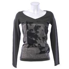 GUESS Damen Shirt Pullover M 38 Baumwollmischung Langarm olive
