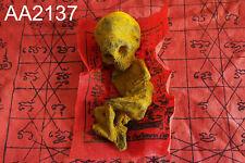 Voodoo Doll Skull Skeleto Ritual Big Head Kuman Thong Thai Doll Amulet #aa2137a