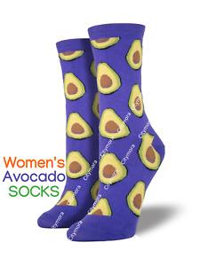Socksmith Women's Avocado Crew Socks Fruit Grape Purple Novelty Footwear