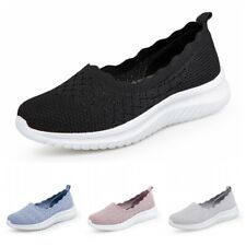 36-42 Womens Lightweight Slip On Flats Walking Fitness Shoes Sport Sneakers SZ D