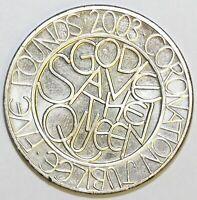 2003 Elizabeth II Commemorative £5 Coronation Jubilee Extremely Fine Condition