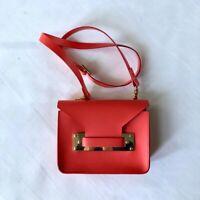 Sophie Hulme coral leather cross-body bag netaporter