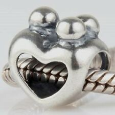 925 Solid Sterling Silver Family, Friends Group Hug Heart Charm Bead.