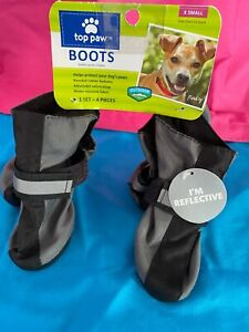 Top Paw Dog Boots - Neon Green - Reflective