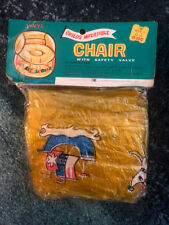 Vintage Vinyl Childs Inflatable Chair My Little Chair Pool Float Kresge Company