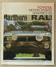 TOYOTA MOTOR SPORTS GRAPHICS 1985 Rallying Racing LF Publicity Brochure LE MANS