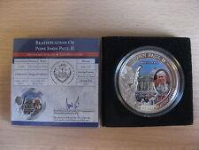 PALAU 2011 John Paul II Beatification 1 dollar UNC box CoA #600