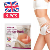 5 Pcs Extra Slimming Patches Belly Abdomen Weight Loss Fat Burn Navel Sticker UK