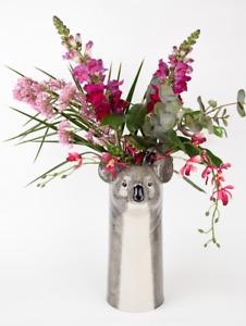 Quail Ceramic  Flower Vase   Koala