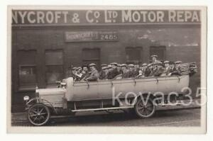THORNYCROFT MOTOR REPAIR WORKS, LEEDS - RP 1920s, CHARABANC (Workers Outing?)