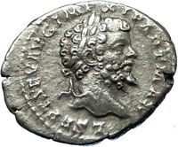 SEPTIMIUS SEVERUS 199AD Silver Ancient Roman Coin Victory over Parthians i65699