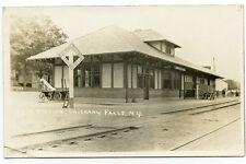 RPPC NY Oriskany Falls O & W Railroad Station Depot Oneida County